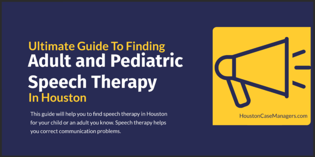speech therapy in houston