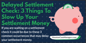 delayed settlement check