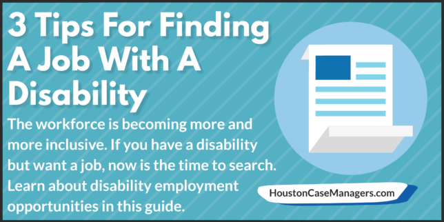 find a job with a disability