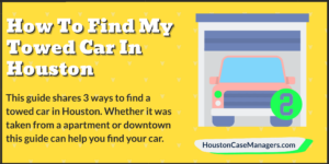 how to find towed car in Houston